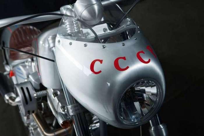Юрий Шиф и его уникальный кастомный мотоцикл - -Юрий Гагарин- (13 фото)