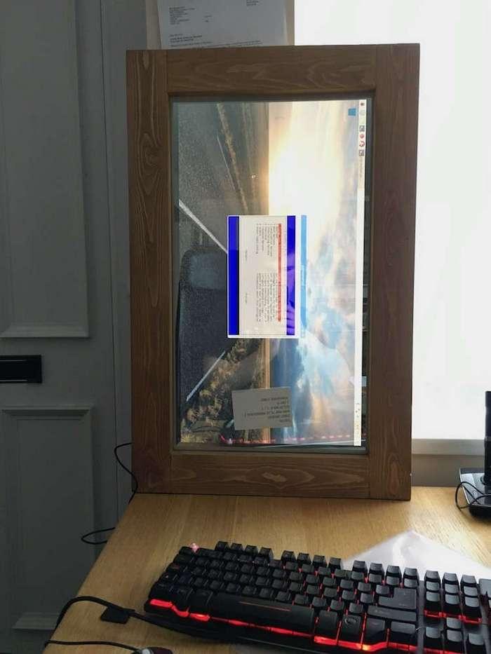 Парень сделал для подруги -волшебное зеркало- (19 фото)