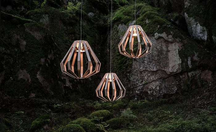 Деревянные лампы Eagle в космическом стиле (6 фото)