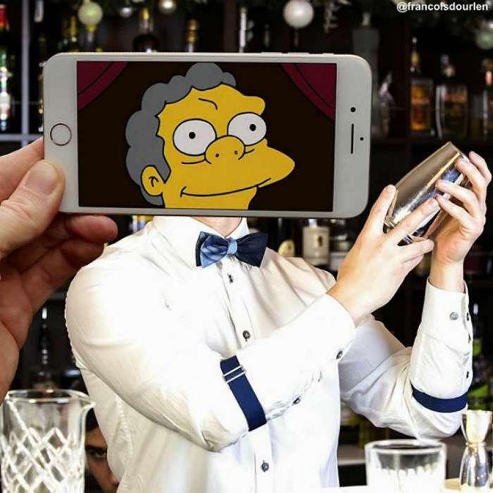 Симпсоны - они среди нас (18 фото)