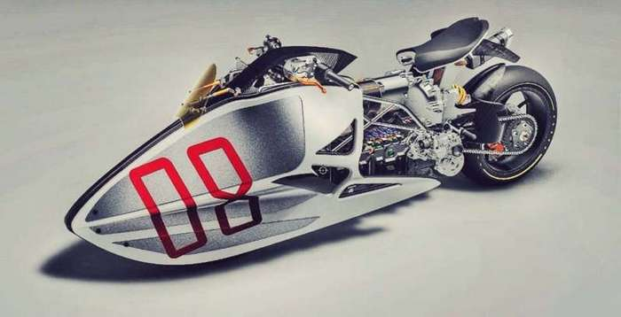 Футуристический концепт мотоцикла Fulcrum Sprint (5 фото)