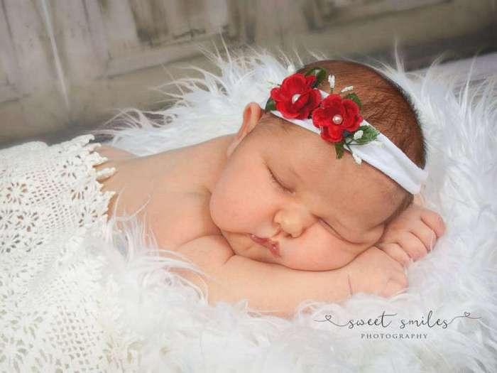 Мама из Флориды родила на свет девочку весом более 6 килограмм (6 фото)