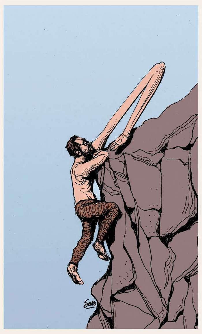Человек и его противоречивая природа: честные иллюстрации от Sako-Asko (51 фото)