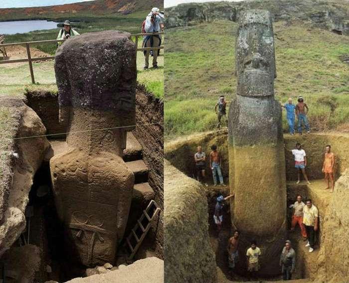 Колоссальные древнейшие моаи раскрывают ученым свои тайны (10 фото)