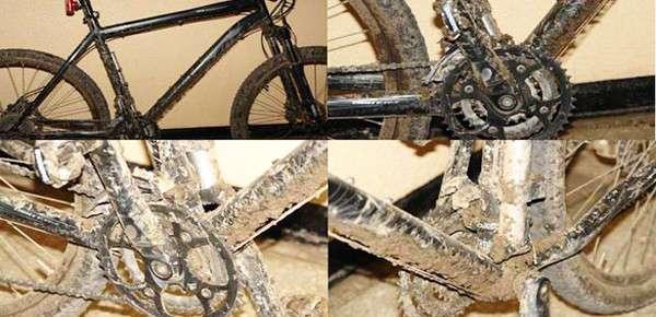 -Ремонт велосипеда в пути- (14 фото)