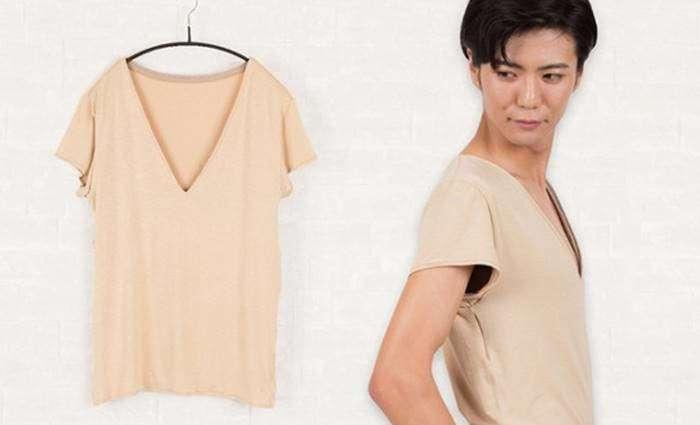 Бюстгальтер для мужчин: В Японии придумали одежду, скрывающую мужские соски (8 фото)