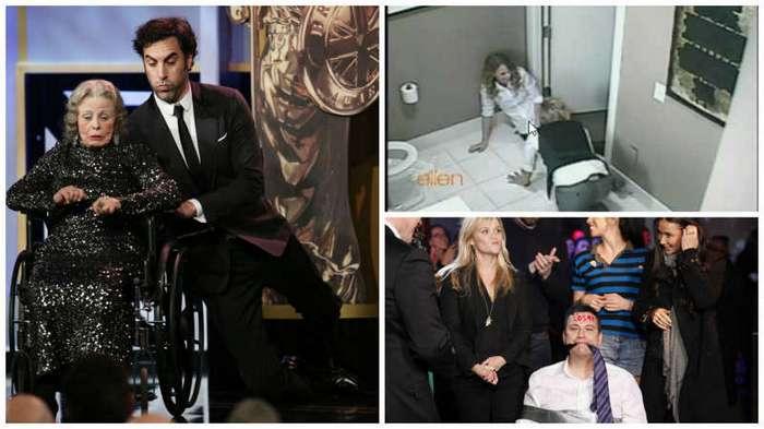 Самые смешные розыгрыши знаменитостей (14 фото + 3 видео)