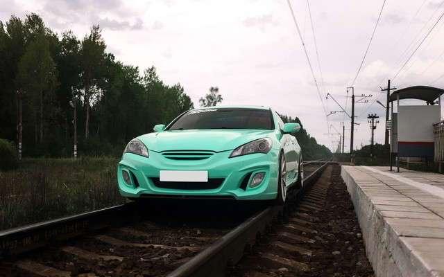 "Безумная фотосессия Hyundai Genesis Coupe ""Сапсан"" (10 фото)"
