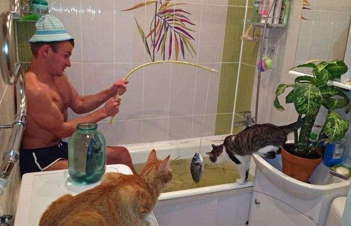 Пост для тех, кто не любит принимать ванну в одиночестве (16 фото)