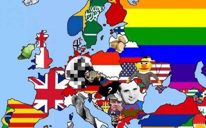 Злая карта Европы выбешивает всех без исключения (4 фото)
