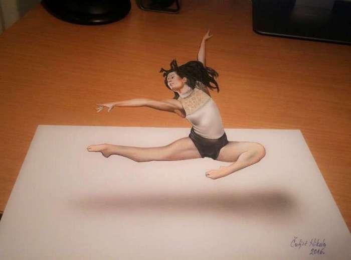 А вы отличите эти объемные рисунки от реальности? (41 фото)