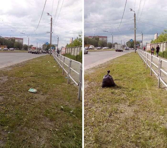 Он за 1 час собрал 28 мешков мусора. Взгляни, как обычный парень сам очищает родной город (21 фото)