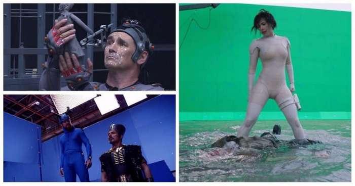 Кадры из фильмов до и после наложения спецэффектов (22 фото)