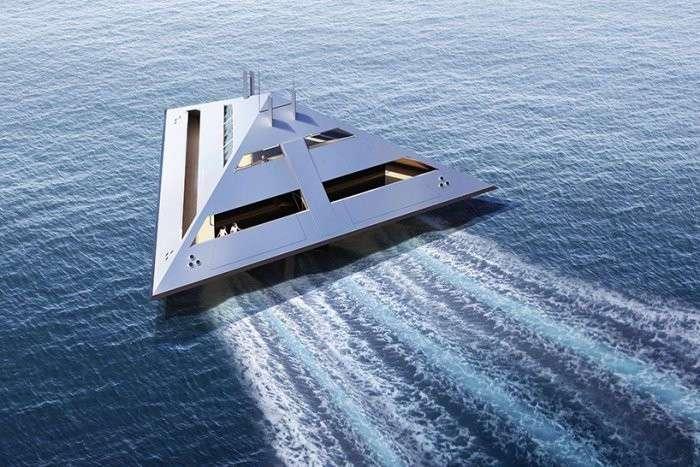 Концепт -парящей- яхты будущего (5 фото)