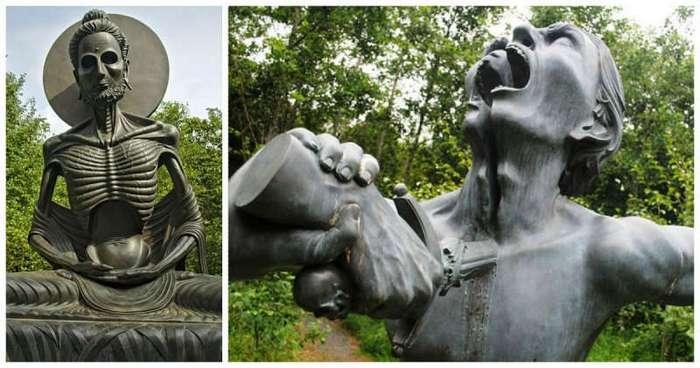 """Скульптуры из индийского """"парка ужасов"""" в Ирландии (22 фото)"""