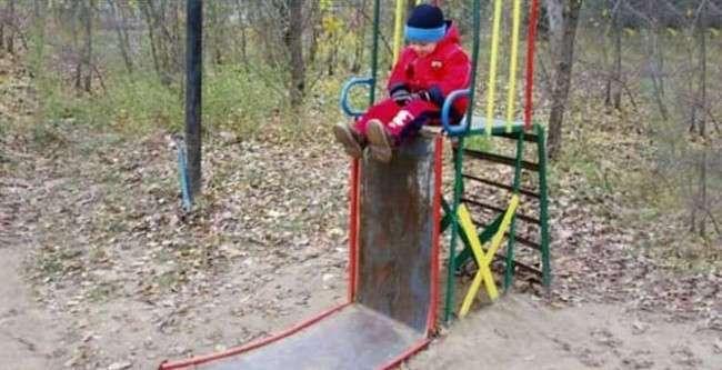 Эти 18 игровых площадок – худшие кошмары родителей (18 фото)