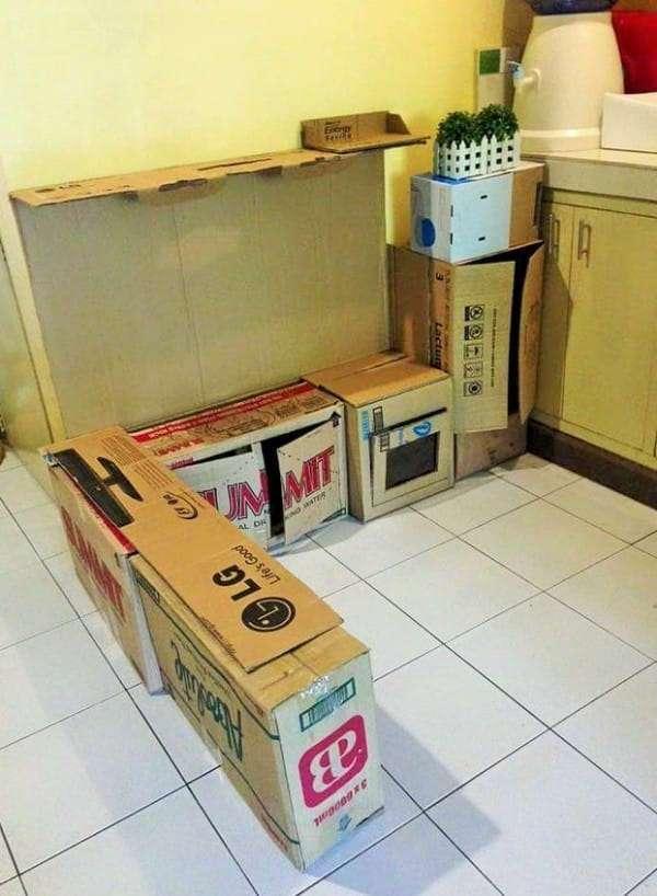 Для многих старые коробки - это мусор. Но только не для этой находчивой мамы!