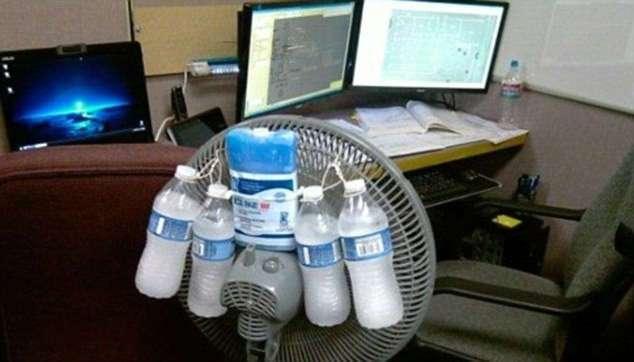 Вентилятор вам в голову: подборка забавных способы борьбы с жарой (17 фото)