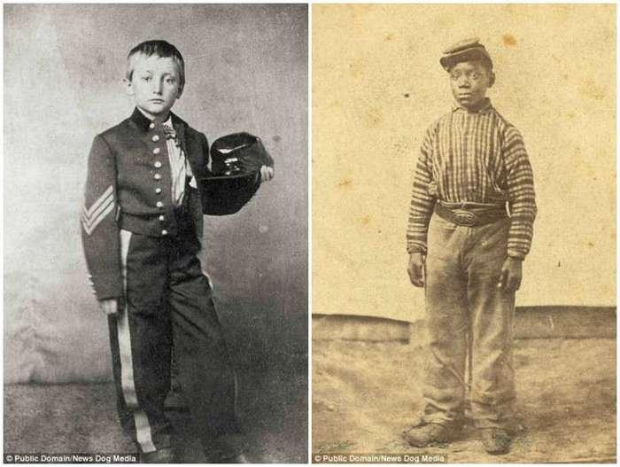 Дети-солдаты времен гражданской войны в США (17 фото)