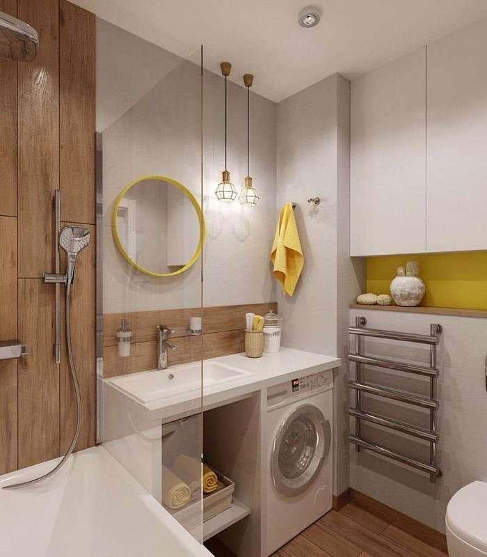 Гениальные решения для небольших ванных комнат (28 фото)