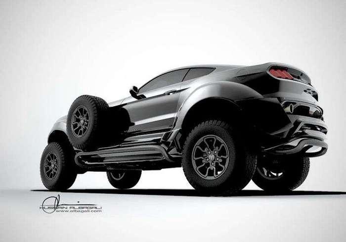 Ford Mustang на шасси Dodge Ram для шейха (4 фото + 2 видео)