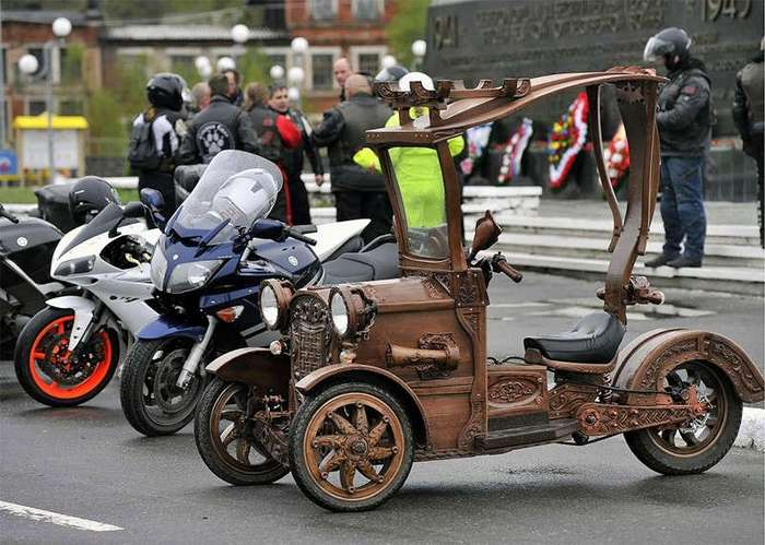 Деревянный трицикл (3 фото)