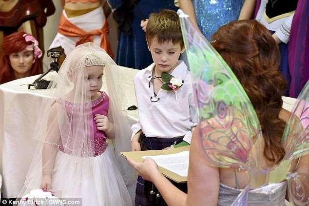 Главным желанием смертельно больной девочки стала -свадьба- с лучшим другом (6 фото)