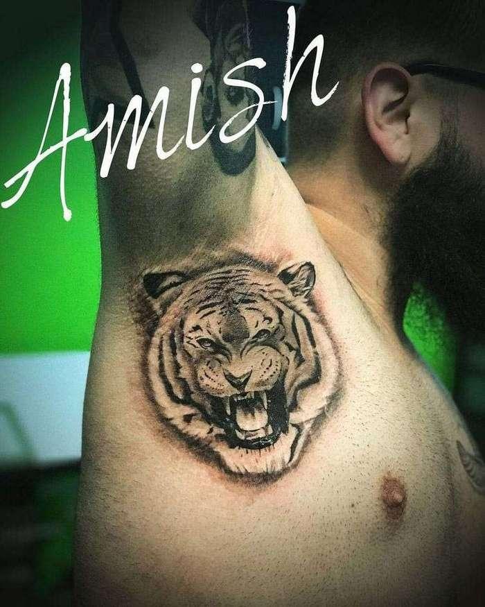 Татуировки под мышками — последний тату-тренд инстаграма (26 фото)