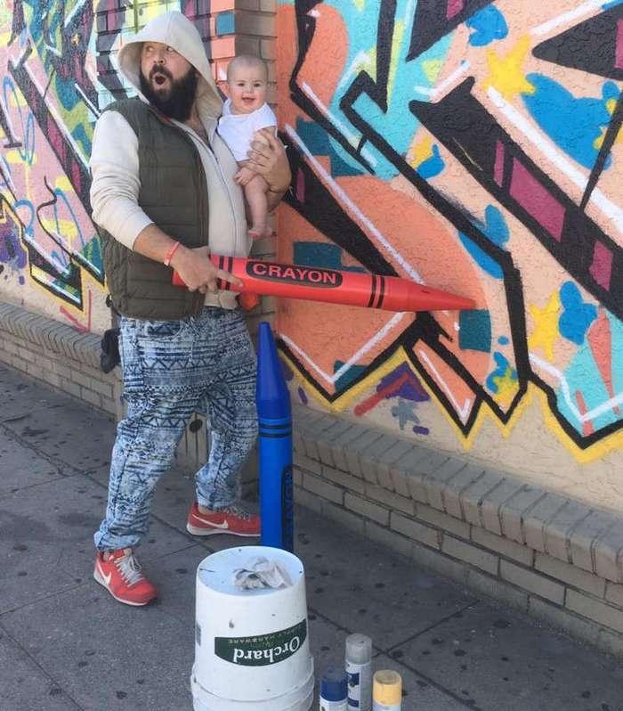 Папа делает весёлые фото с маленькой дочерью и они просто восхитительны (12 фото)