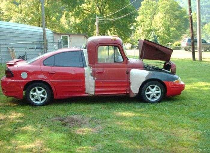 Самый худший самодельный автомобиль в мире (4 фото)