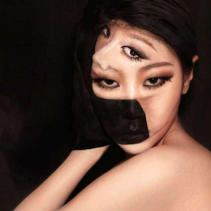 Макияж-иллюзия от корейской художницы, на который хочется взглянуть дважды (20 фото)