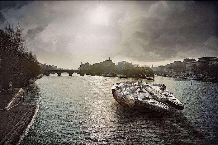 Звездные войны на улицах Парижа (11 фото)