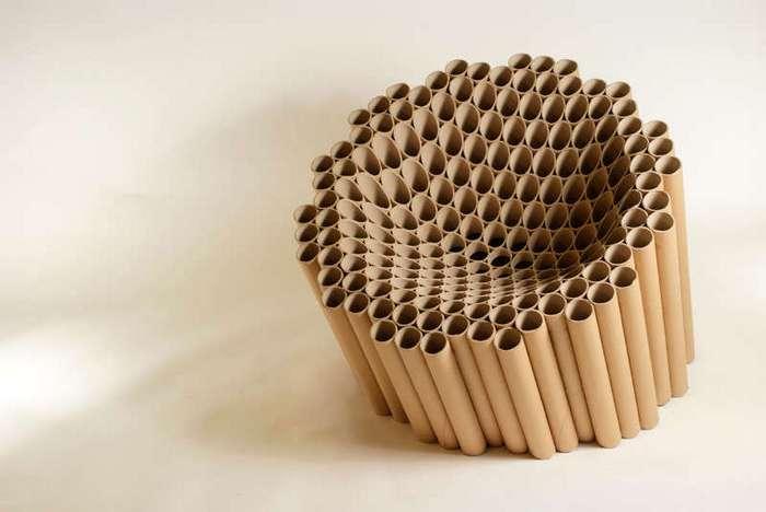 Мебель из картонных трубок