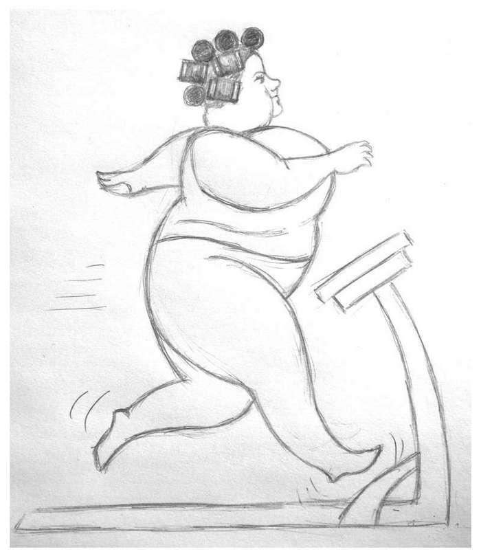 Беговая дорожка для похудения (1 фото)