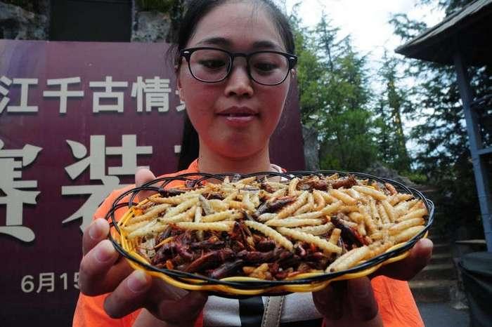 Китаец выиграл золото скушав 1.23 кг жареных жуков за пять минут (13 фото)