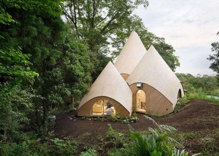 Очаровательный дом для пенсионеров в горах Японии