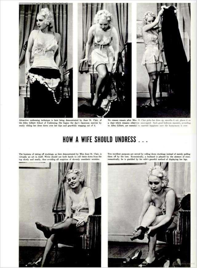 Как раздеваться в спальне: инструкция 1937 года для жен
