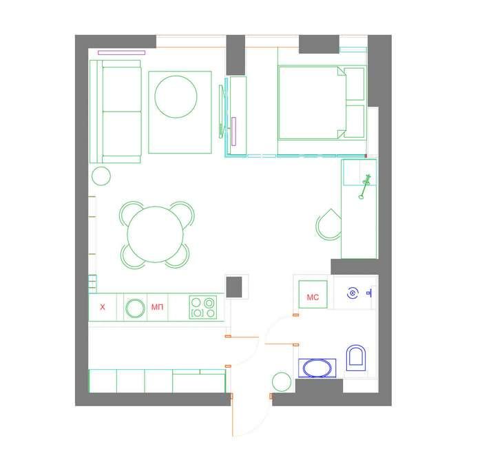 Дизайн квартиры молодого холостяка В Киеве