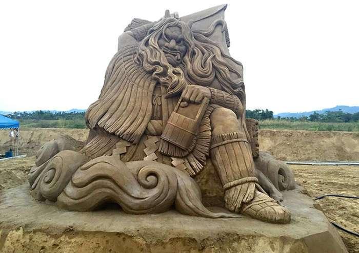 Шедевры из песка от японского мастера
