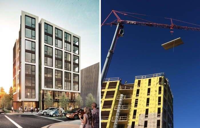 Альтернатива бетонным «коробкам»: современное 8-этажное здание, которое построили из натуральной древесины