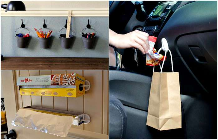 19 гениальных идей, как с помощью обычных пластиковых крючков сделать массу полезного в доме, машине и не только