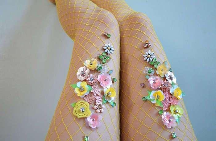 Декоративные колготки: модный аксессуар или произведение искусства?