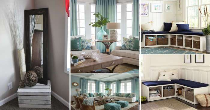Оригинальные и практичные идеи, как оформить пустой угол в гостиной комнате