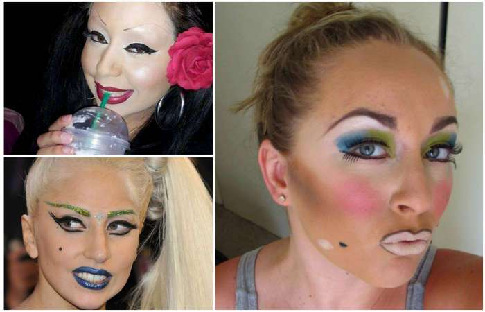 Красота - страшная сила: 17 девушек, которые здорово облажались с макияжем