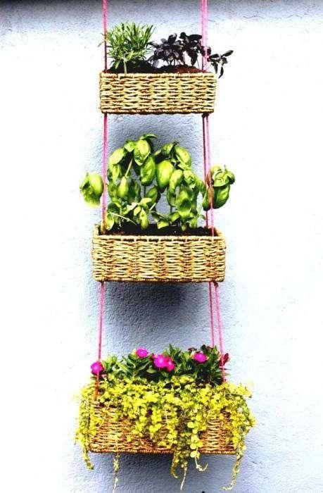 20 восхитительных подставок для цветочных горшков, которые можно сделать из неожиданных вещей