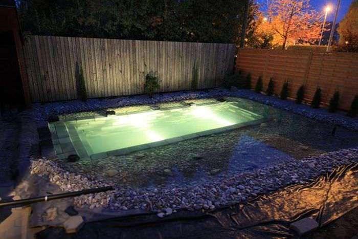 Семья построила себе бассейн, но стоит его наполнить водой, и все оказывается гораздо круче