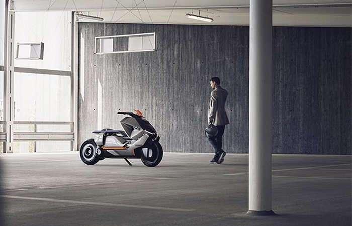 BMW презентовал футуристический скутер будущего с нулевым уровнем выбросов