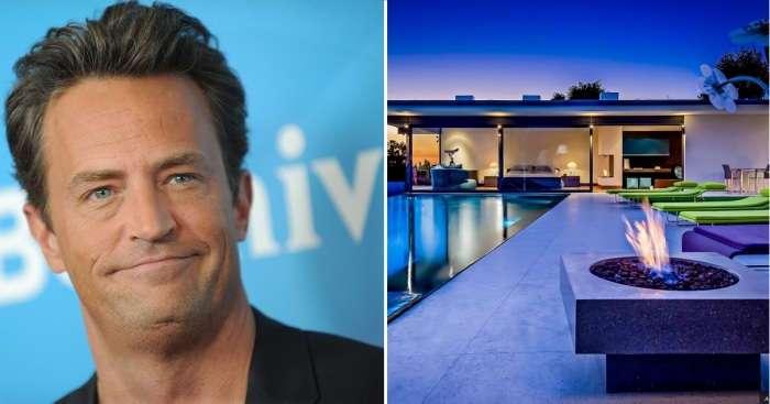 Как выглядит особняк голливудской звезды Мэтью Перри, известного по сериалу -Друзья- и не только