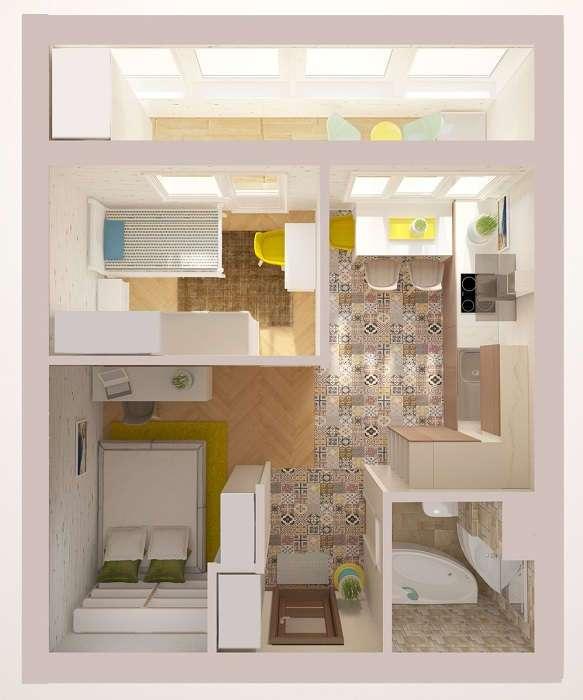 Квадратный метр: 11 лучших идей по перепланировки однокомнатной квартиры