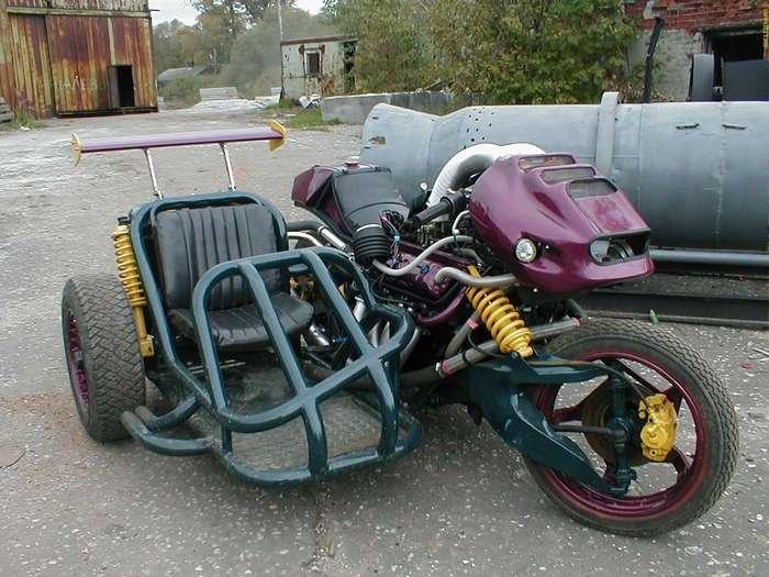 Мотоцикл с двигателем от ГАЗ-53 собрали в российской глубинке (6 фото + видео)